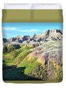 South Dakota's Badlands National Park Duvet Cover