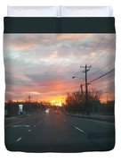 South End Sun Rise Duvet Cover