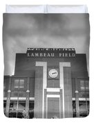 South End Zone Lambeau Field Duvet Cover