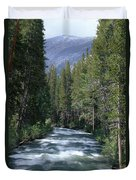 South Fork San Joaquin River - Kings Canyon National Park Duvet Cover