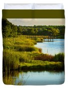 South From The Causeway Huntington Beach State Park Sc Duvet Cover