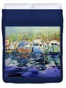 South Harbor Dawn Duvet Cover