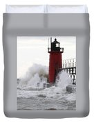 South Haven Lighthouse 3 Duvet Cover