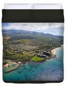 South Kihei Coastline Duvet Cover
