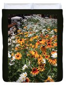 South Lake Tahoe Flowers Duvet Cover