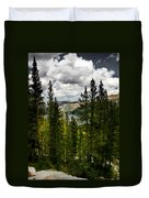 South Lake Through The Pines Duvet Cover
