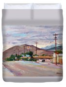 South On Route 395, Big Pine, California Duvet Cover
