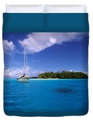 South Pacific Anchorage Duvet Cover