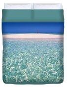 South Pacific Sandbar Duvet Cover