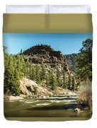 South Platte In Heavy Spring Flows And Wind Duvet Cover