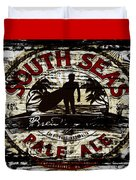 South Seas Pale Ale Sign Duvet Cover