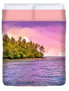 South Seas Sunset Duvet Cover