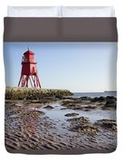 South Shields Groyne Duvet Cover