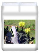 South Texas Fence Duvet Cover