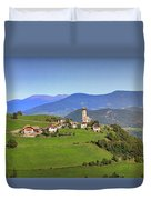 South Tyrolean Panorama Above Bolzano. Duvet Cover