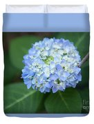 Southern Blue Hydrangea Blooming Duvet Cover