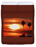 Southern California Sunset Duvet Cover