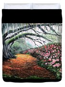 Southern Charm Oak And Azalea Duvet Cover