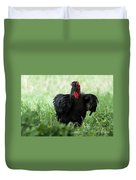 Southern Ground Hornbill Eating An Insect In Tarangire Duvet Cover