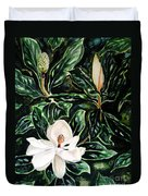Southern Magnolia Bud And Bloom Duvet Cover