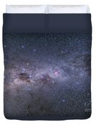 Southern Milky Way From Vela Duvet Cover