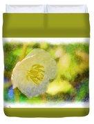 Southern Missouri Wildflowers - Mayapples Bloom - Digital Paint 2 Duvet Cover