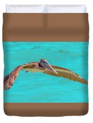 Southern Most Pelican Duvet Cover