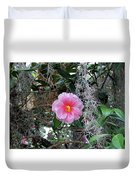 Southern Pink Camellia Duvet Cover