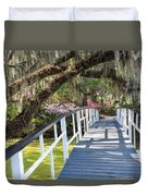 Southern Romantic Garden Magnolia Plantation Charleston South Ca Duvet Cover