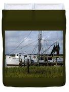 Southern Shrimpboat, Edisto Island, South Carolina  Duvet Cover