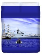 Southern Swan Cruising By Duvet Cover