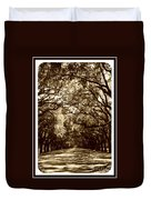 Southern Welcome In Sepia Duvet Cover