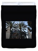 Southernmost Hotel Entrance In Key West Duvet Cover