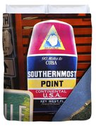 Southernmost Point Duvet Cover