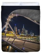 Southgate Bridge At Night Duvet Cover