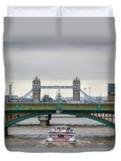 Southwark Bridge And The Tower Bridge Duvet Cover