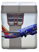 Southwest 737-7l9 N7816b Coco Phoenix Sky Harbor November 30 2017 Duvet Cover