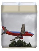 Southwest Airlines 737 On Approach Into Las Vegas Nv Duvet Cover