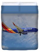 Southwest Airlines Boeing 737-76n Duvet Cover