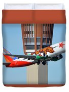 Southwest Boeing 737-3h4 N609sw California One Phoenix Sky Harbor January 21 2016 Duvet Cover