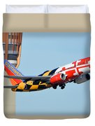 Southwest Boeing 737-7h4 N214wn Maryland One Phoenix Sky Harbor January 19 2016 Duvet Cover