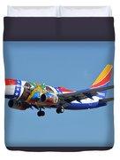 Southwest Boeing 737-7h4 N280wn Missouri One Phoenix Sky Harbor January 24 2016 Duvet Cover