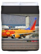Southwest Boeing 737-7h4 N781wn New Mexico Phoenix Sky Harbor January 17 2016 Duvet Cover