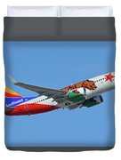Southwest Boeing 737-7h4 N943wn California One Phoenix Sky Harbor October 16 2017 Duvet Cover