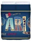 Souvernirs De Paris Duvet Cover