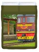 Soviet Era Train In Haapsalu Estonia Duvet Cover