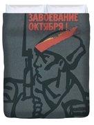 Soviet Russian Vintage Posters Duvet Cover