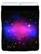 Space Image Galaxy Cluster Purple Blue Black Duvet Cover