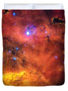 Space Image Red Orange And Yellow Nebula Duvet Cover