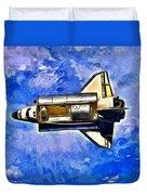 Space Shuttle In Space - Da Duvet Cover